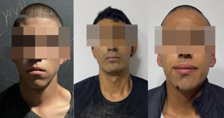 Captura AEI a tres sujetos por robo de vehículo con violencia afuera de casino en la ciudad de Chihuahua