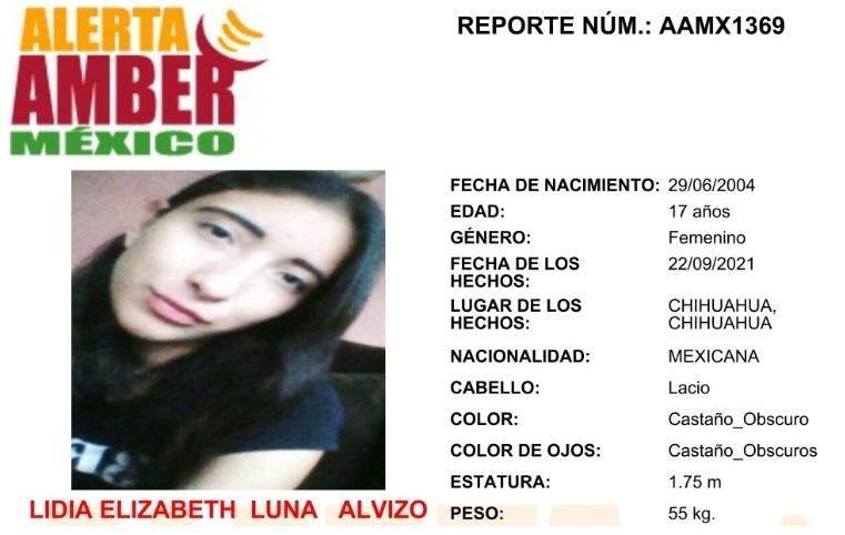 Amplían la búsqueda de la adolescente Lidia Elizabeth Luna Alvizo al resto del país