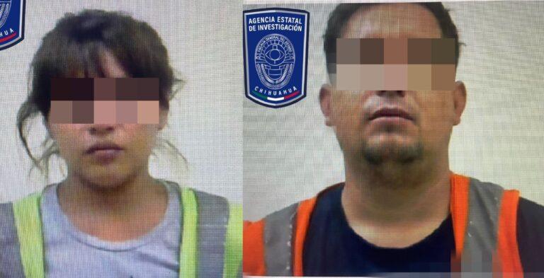 Detienen a pareja involucrada en robo con violencia a tienda de conveniencia en Cd. Juárez