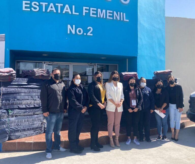 Recibe Cereso Femenil de Ciudad Juárez donación de colchonetas y cobijas