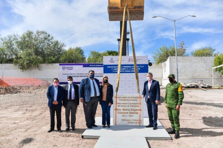 Coloca Gobernadora primera piedra de ampliación de la Fiscalía Estatal Zona Centro